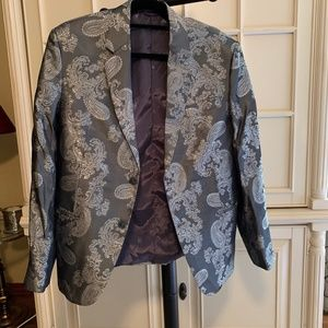 Georgio Armani Metallic Paisley Jacket Large